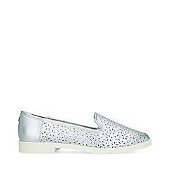 Miss KG - Metallic 'Nora' Silver Flat Shoes