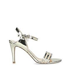 Miss KG - Gold 'Pippy' Mid Heel Sandals