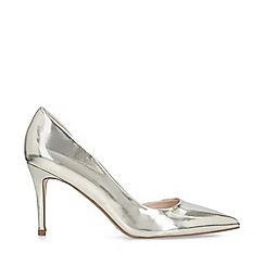 Miss KG - Silver 'Zelia' Mid Heel Court Shoes
