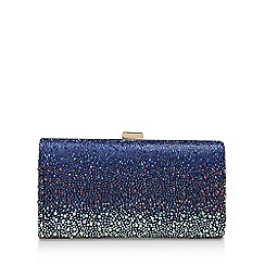 Carvela - Blue 'Lovebird Clutch' Embellished Clutch Bag