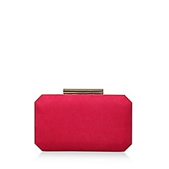 Carvela - Pink 'Ola' Suedette Clutch Bag