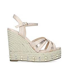Miss KG - Cream 'Dani' Mid Heel Wedge Sandals