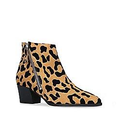 Carvela - Leopard 'Sacriledge' print suede block heel ankle boots