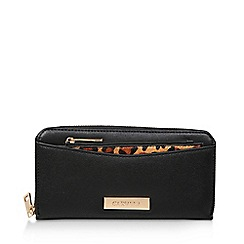 Carvela - Black 'Alia Pocket Detail Wallet' Zip Around Purse
