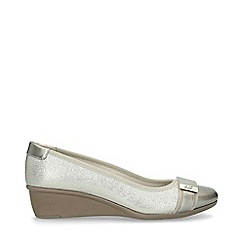 Anne Klein - Silver 'Waken' Wedge Heel Court Shoes