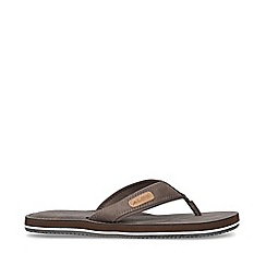 ALDO - Brown 'Diara Thong' Flip Flops
