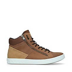 ALDO - Tan 'Peohtric Mid Top' High Top Trainers