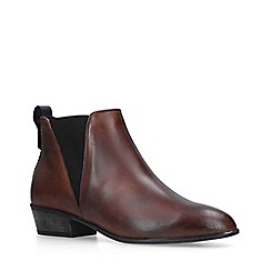 Carvela Comfort - Tan 'Tony' Leather Block Heel Ankle Boots