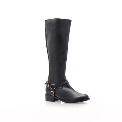 Carvela - Black 'Petra' low heel knee boots
