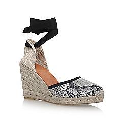 KG Kurt Geiger - Brown 'Mimi' high heel wedge sandals