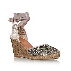 KG Kurt Geiger - Gold 'Mimi' high heel wedge sandals