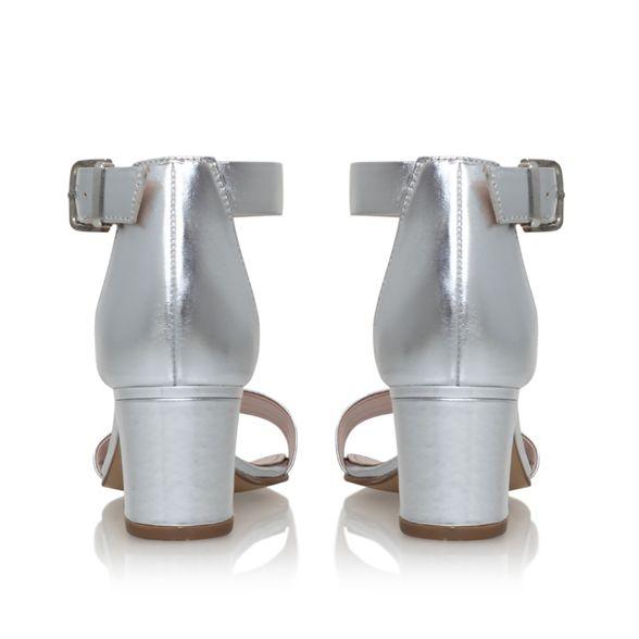 heel mid Carvela Silver sandals 'Krisp' xqYxftFw7