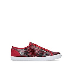 Carvela - Red 'Jasper' lace up trainers