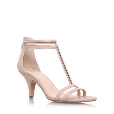 ae5f6d0eb620 Vince Camuto Nude  Mitzy  mid heel ankle strap sandals