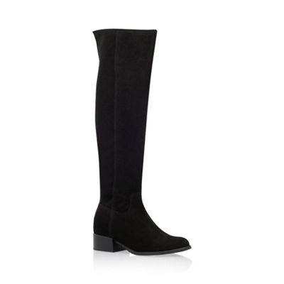Carvela   Black 'whit' Knee High Flat Boots by Carvela
