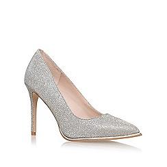 KG Kurt Geiger - Silver 'Beauty' high heel court shoes