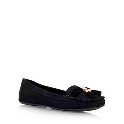 Carvela - Black 'Leaf' flat slip on loafer