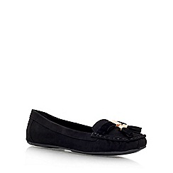 Carvela - Black 'Leaf' flat slip on loafer