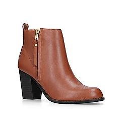 Carvela - Tan 'Tanga' mid heel ankle boots