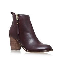 Carvela - Red 'Tanga' high heel ankle boots