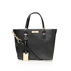 Carvela - Black 'Danna winged tote' mini tote handbag with shoulder strap