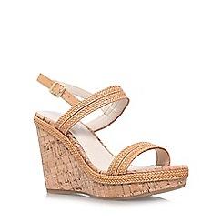Carvela - Tan 'Kay' high wedge heel sandal