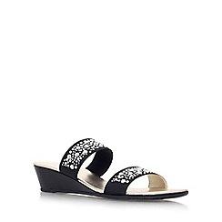 Carvela Comfort - Black 'Sage' low wedge heel sandal