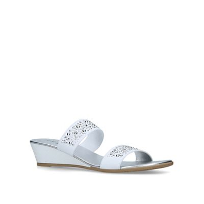 Carvela Comfort - White 'Sage' low heel sandals