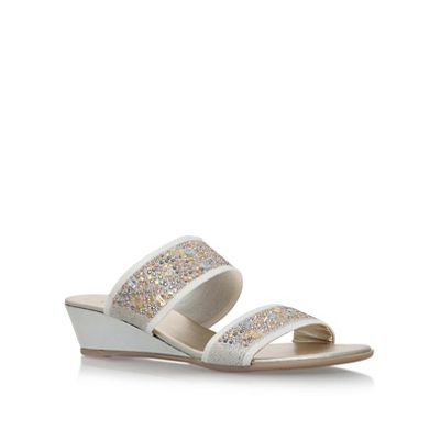 Carvela Comfort - Taupe 'Sage' low wedge heel sandal