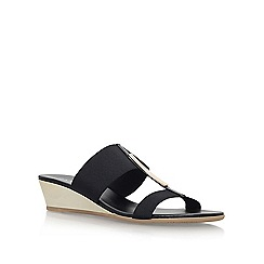 Carvela Comfort - Black 'Suri' low wedge heel sandal