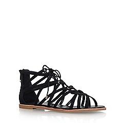 KG Kurt Geiger - Black 'Maisy' flat sandals