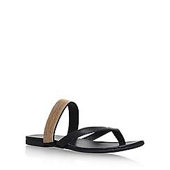 KG Kurt Geiger - Black 'Mae' flat sandals