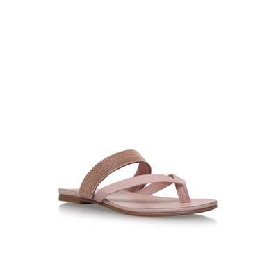 KG Kurt Geiger - Natural 'Mae' flat sandals