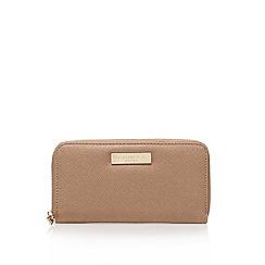 Carvela - Natural 'Alis' zip around wallet zip fastening purse