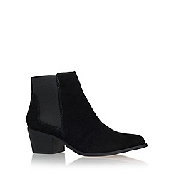 Miss KG - Black 'Spider' mid block heel ankle boot