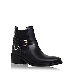 Carvela - Black 'Saddle' mid heel ankle boot