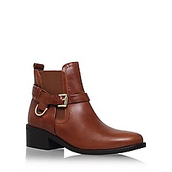 Carvela - Brown 'Saddle' mid heel ankle boot