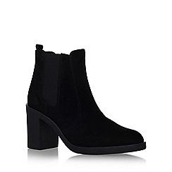 KG Kurt Geiger - Black 'Sicily' high block heel ankle boot