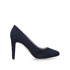 Nine West - Blue 'Handjive' suedette mid heel court shoes