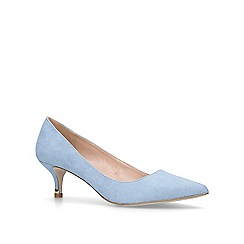 Miss KG - Blue 'Samantha' mid heel court shoes