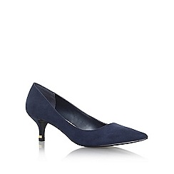 Miss KG - Blue 'samantha' mid heel court shoe