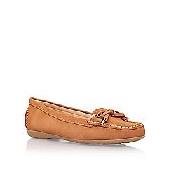 Carvela Comfort - Brown 'cally' flat slip on loafer