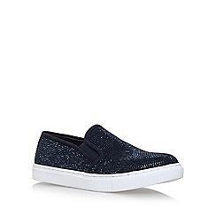 Carvela - Blue 'Jamie' flat slip on sneakers