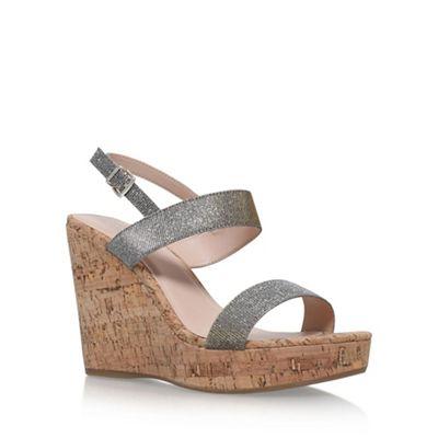 Carvela - Metal 'Kay' high heel wedge sandals