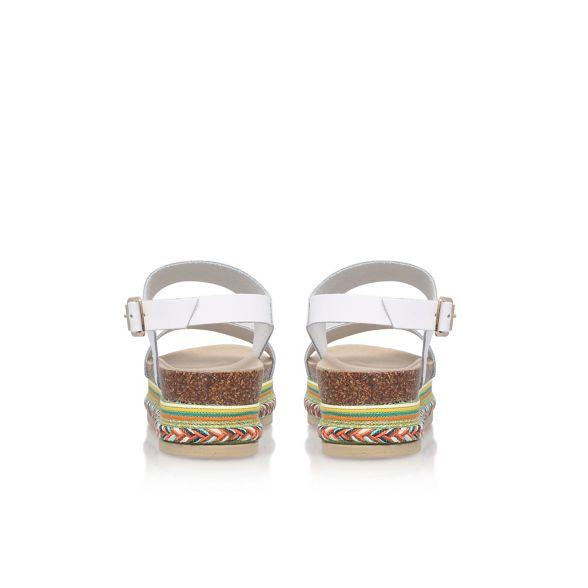 flat sandal White 'Kitten' White Carvela Carvela 7qP00Z