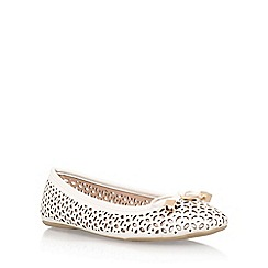 Carvela - White 'Lidia' flat slip on pump