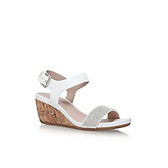Carvela - White 'sparkle' high heel wedge sandal
