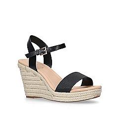 Miss KG - Black 'Paulina' mid heel wedge sandals