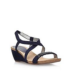 Anne Klein - Blue 'Jasia2' low wedge sandal