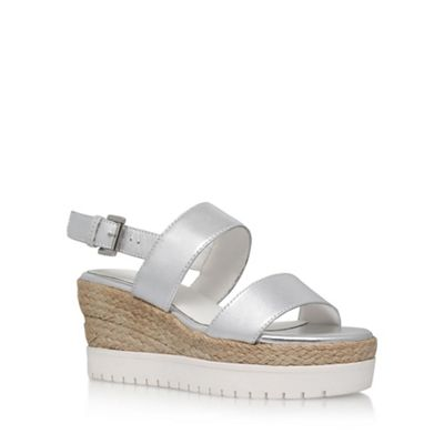 Carvela - Silver 'Kup' high heel wedge sandals